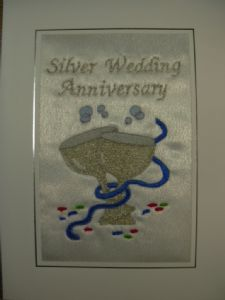 Silver WEDDING ANNIVERSARY - 2 Goblets